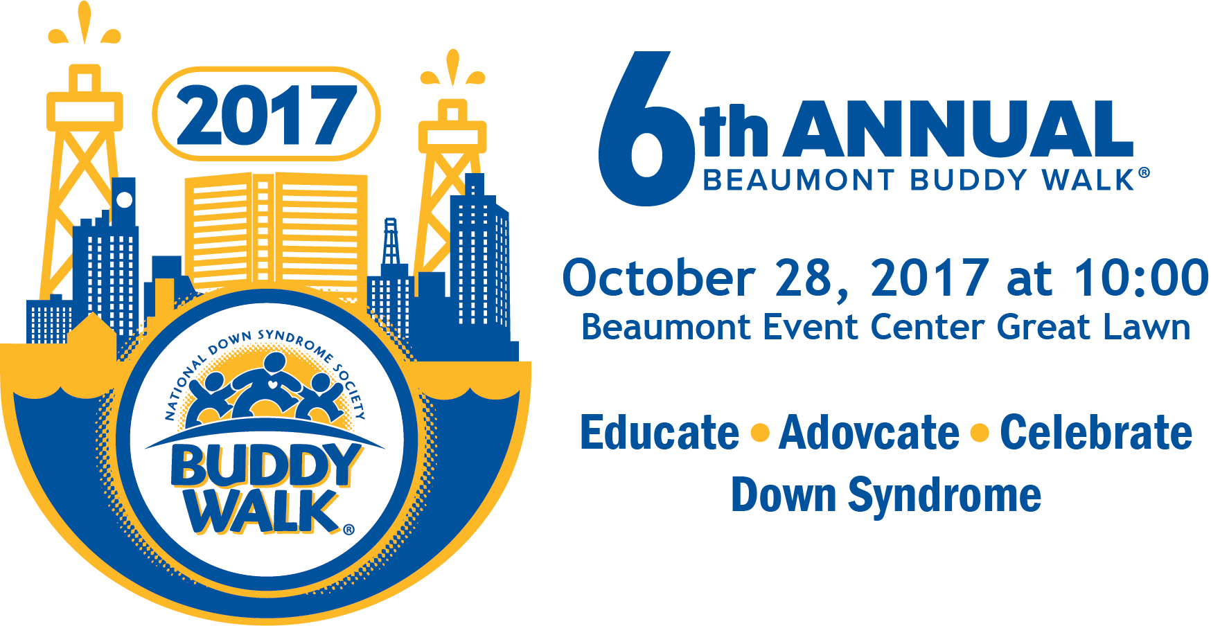 6th Annual Beaumont Buddy Walk October 28, 2017