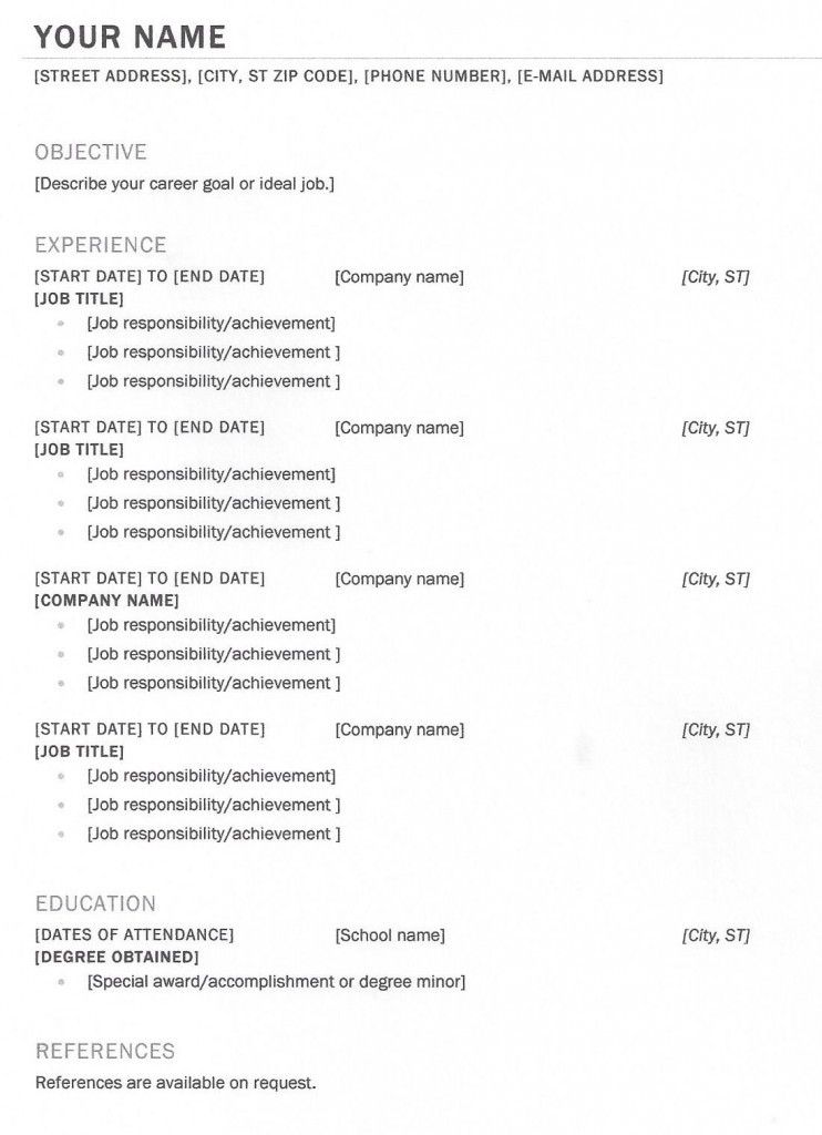 I Need A Resume Template | Resume Format Download Pdf