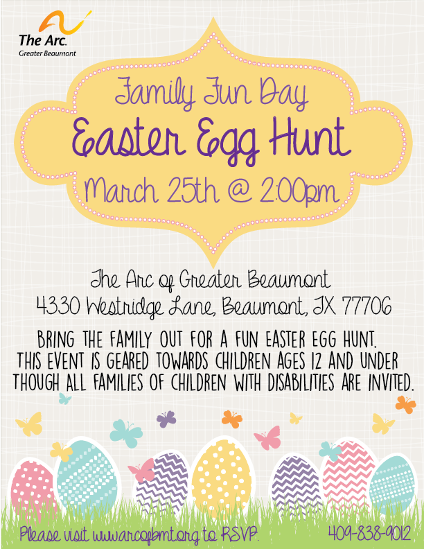 Family Fun Day -Easter Egg Hunt @ The Arc of Greater Beaumont | Beaumont | Texas | United States