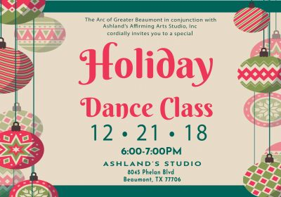 Ashland's Holiday Dance Class- December 21st
