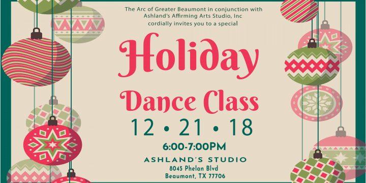 Ashland's Holiday Dance Class- December 21st
