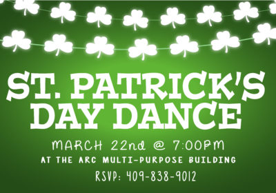 St. Patrick's Dance- March 22nd